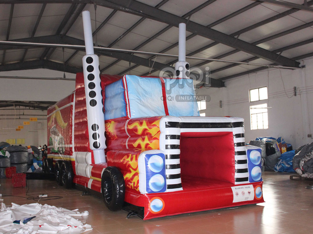 transformers truck inflatable obstacle