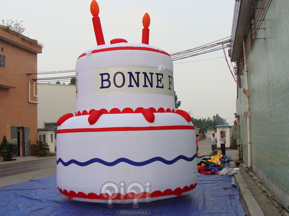 Huge Inflatable Birthday Cake Qiqi Toys Inflatables