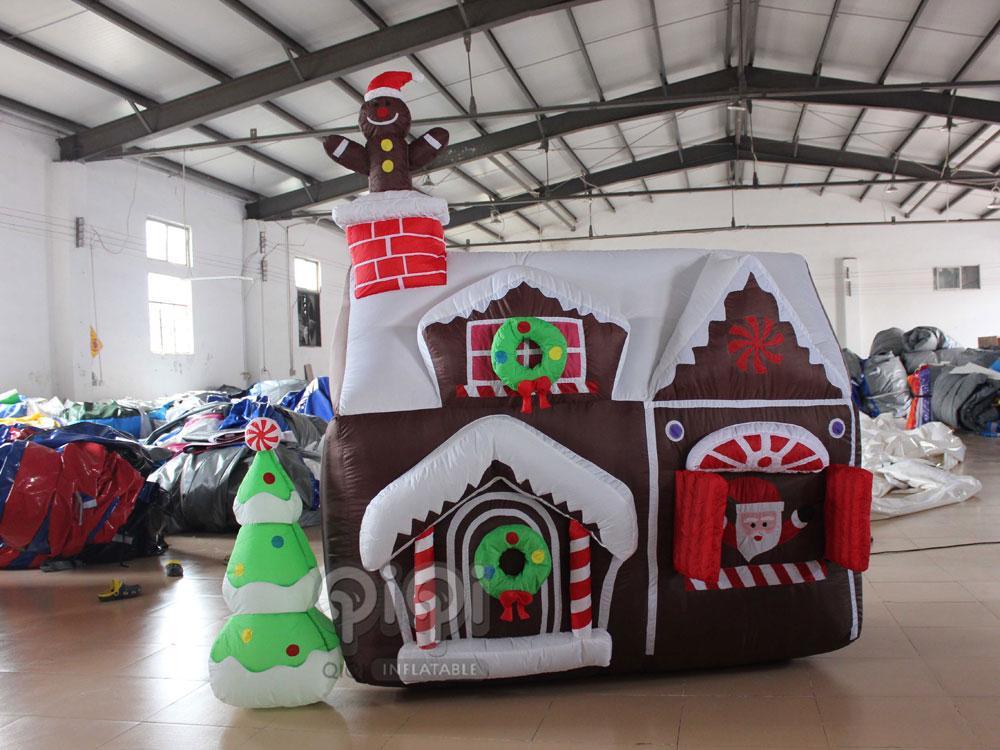 mini inflatable christmas house qho 1093 3 - Christmas Decorations Inflatables