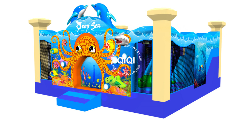 imaginative deep sea inflatable fun city for kids play