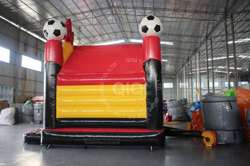Football air castle with slide