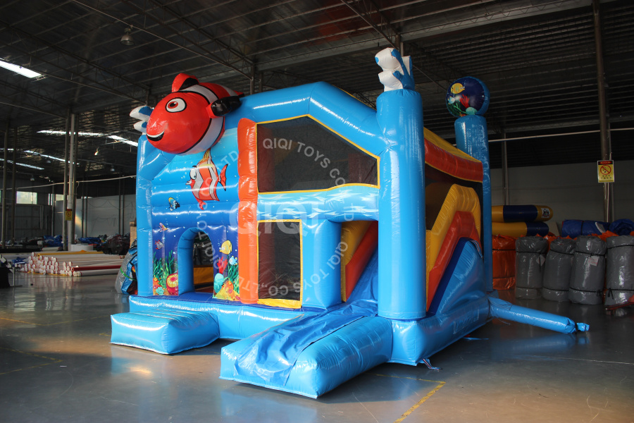 bouncing castles with slide