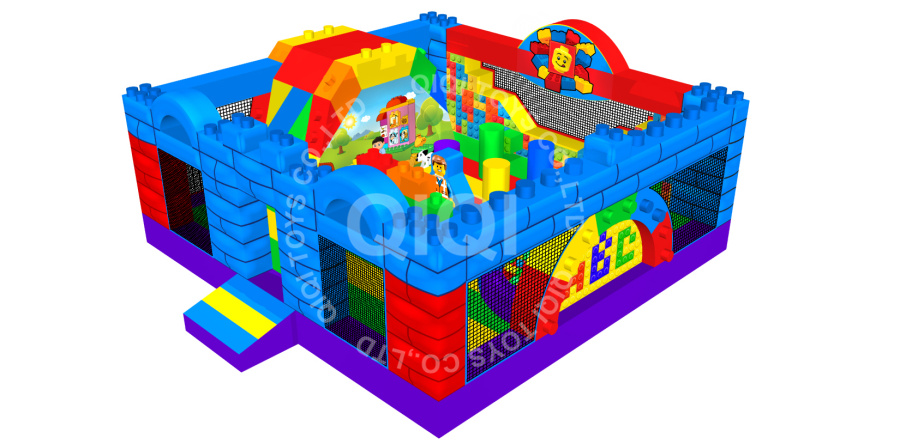 Toy Bricks Jumping Park