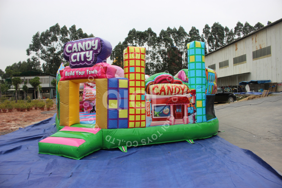 Candy Land inflatable castle commercial for jumping