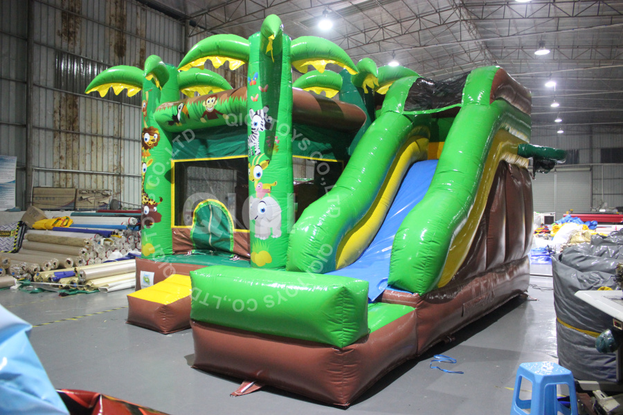 5 in 1 Jungle Jumping Castle Combo
