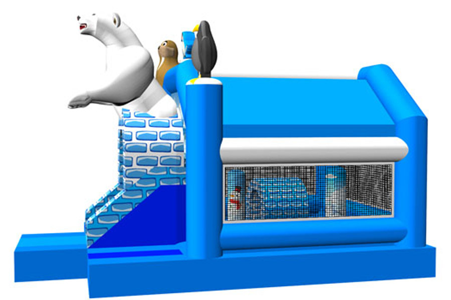 The polar bear theme inflatable combo