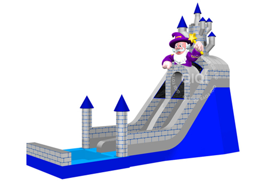 Wizard with the ancient castle water slide